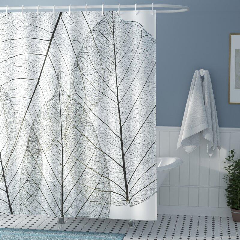 Borden Minimalist Plant Shower Curtain