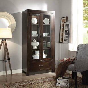 Charo Wooden Lighted Curio Cabinet Looking for