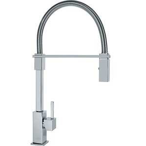 Franke Planar Single Handle Deck Mounted Kitchen Faucet with Pull Down Spray