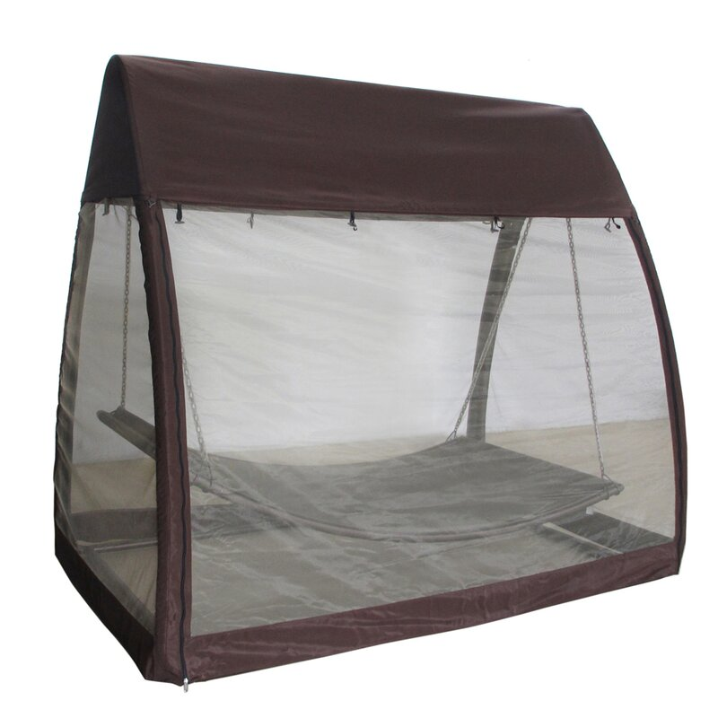 Abba Patio Outdoor Arched Canopy Cover Hanging Swing Polyester Hammock with Stand