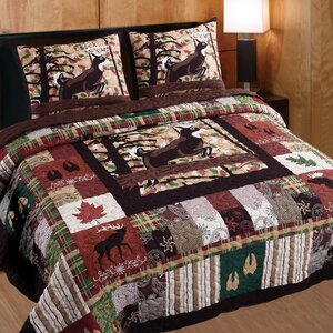 Varsity Whitetail Lodge 3 Piece Quilt Set