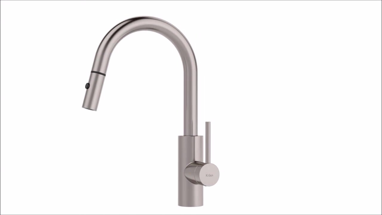 Oletto Pull Down Single Handle Kitchen Faucet & Reviews | AllModern