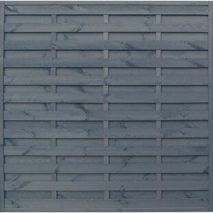Lamprey 6' x 6' (1.8m x 1.8m) Horizontal Weave Fence Panel (Set of 3) by Lynton Garden