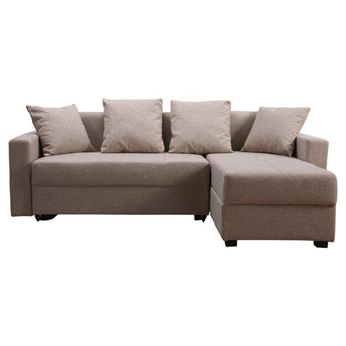 three posts morehouse corner sofa bed reviews wayfair. Black Bedroom Furniture Sets. Home Design Ideas