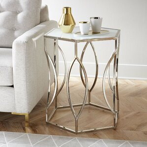 Olander Hexagon End Table by Willa Arlo Interiors