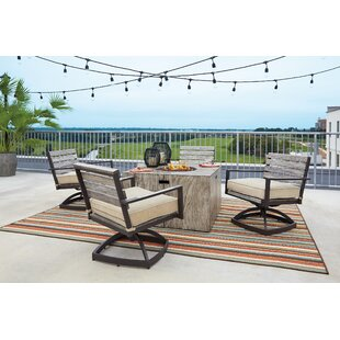 Patio Dining Set With Fire Pit | Wayfair