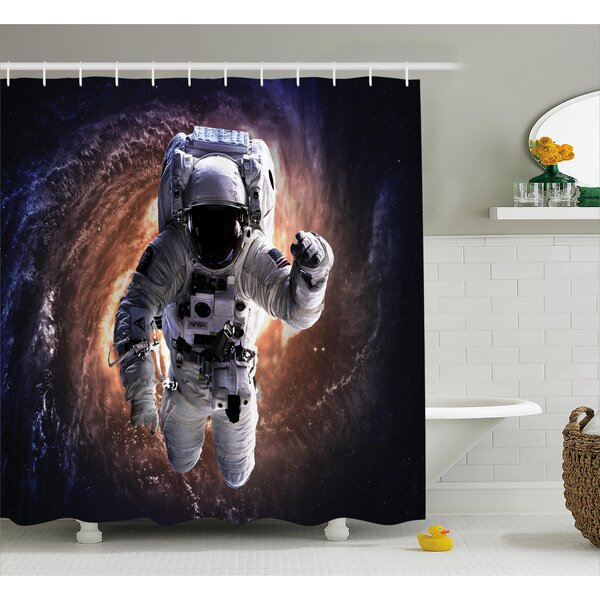 East Urban Home Astronaut In Outer Space Shower Curtain U0026 Reviews    Wayfair.ca