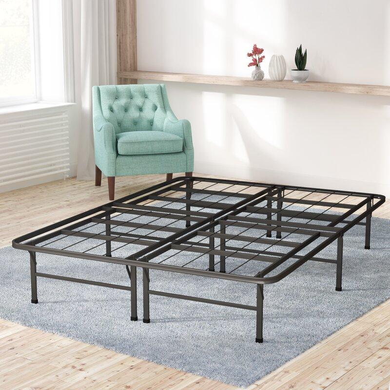 alwyn home box spring bed frame foundation reviews wayfair. Black Bedroom Furniture Sets. Home Design Ideas