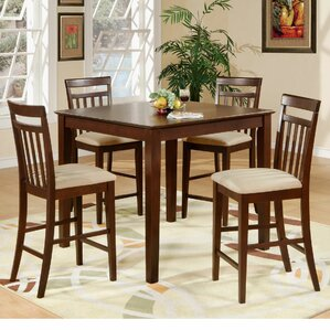 5 Piece Counter Height Pub Table Set by E..
