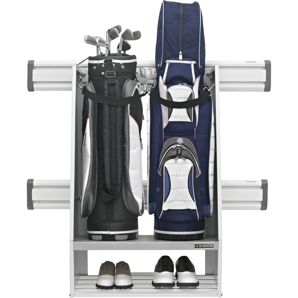 Gladiator Premier Series Golf Caddy Garage Wall Storage Mounted Sports Rack Reviews Wayfair