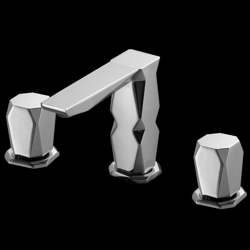 MaestroBath Ikon 3 Hole Luxury Widespread Bathroom Faucet | Wayfair
