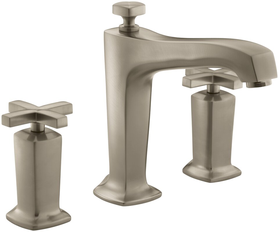 Bathroom Faucet Not Flowing kohler margaux deck-mount bath faucet trim for high-flow valve
