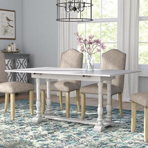 Lilian Farmhouse Folding Trestle Console To Dining Table