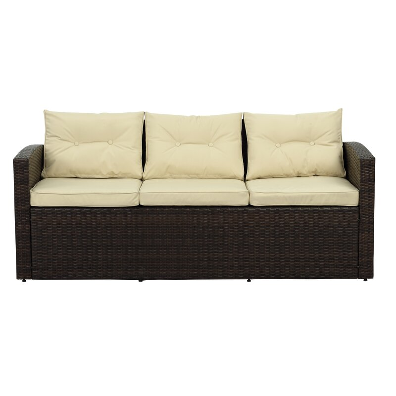 Owen 5 Piece Rattan Sofa Set With Cushions