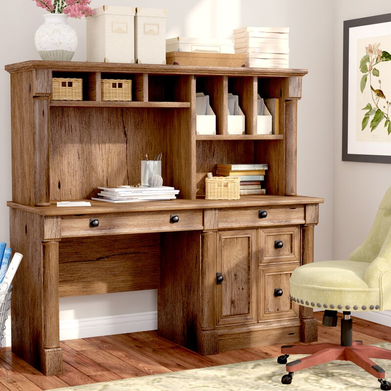 Darby Home Co Sagers Computer Desk With Hutch Amp Reviews