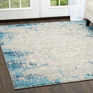 Compare prices Glidden Antiqued Border Blue Area Rug By Williston Forge