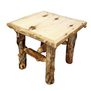 Aspen Grizzly End Table by Mountain Woods Furniture