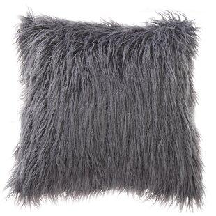Mongolian fur pillows Yellow Mills Mongolian Fur Throw Pillow Wayfair Mongolian Fur Pillow Wayfair