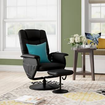 Peachy Ebern Designs Reclining Massage Chair With Ottoman Reviews Home Interior And Landscaping Ferensignezvosmurscom