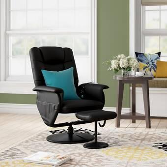 Swell Ebern Designs Reclining Massage Chair With Ottoman Reviews Interior Design Ideas Clesiryabchikinfo