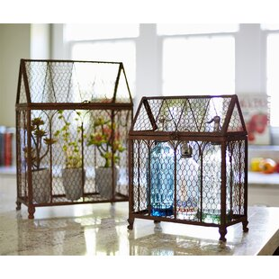 Chicken Wire 2 Piece Decorative Bird Cage Set