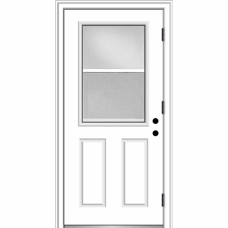 Verona Home Design Venting Primed Fiberglass Prehung Front Entry