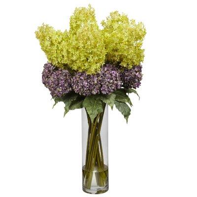 Nearly natural rose delphinium and lilac silk floral arrangement giant mixed hydrangea silk flower arrangement mightylinksfo
