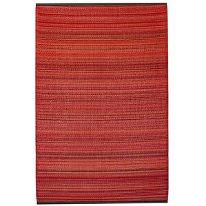 Reva Hand Woven Red Indoor/Outdoor Area Rug
