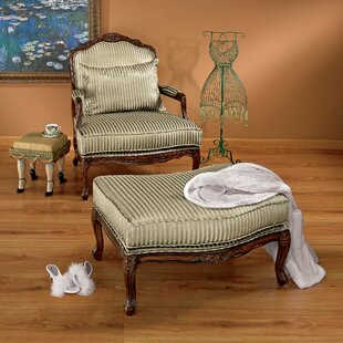 Rue Saint Honore Bergere Chair And Ottoman