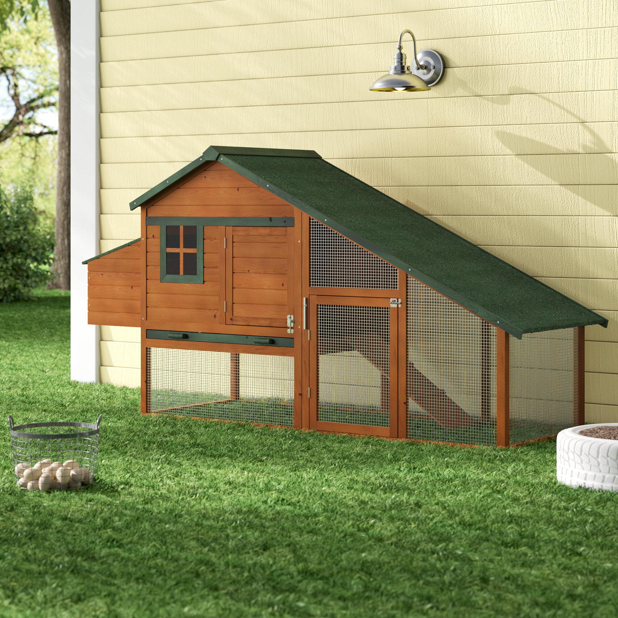 Tucker Murphy Pet Hentz Wooden Backyard Slant Roof Hen House Chicken Coop U0026  Reviews | Wayfair
