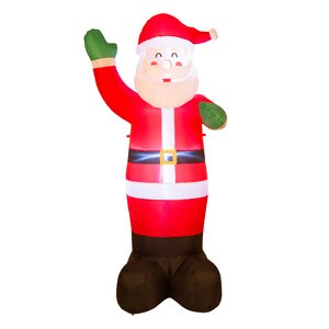 Lighted Santa Decor Inflatable