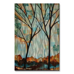 Tall Trees By Peggy Davis Painting Print Plaque