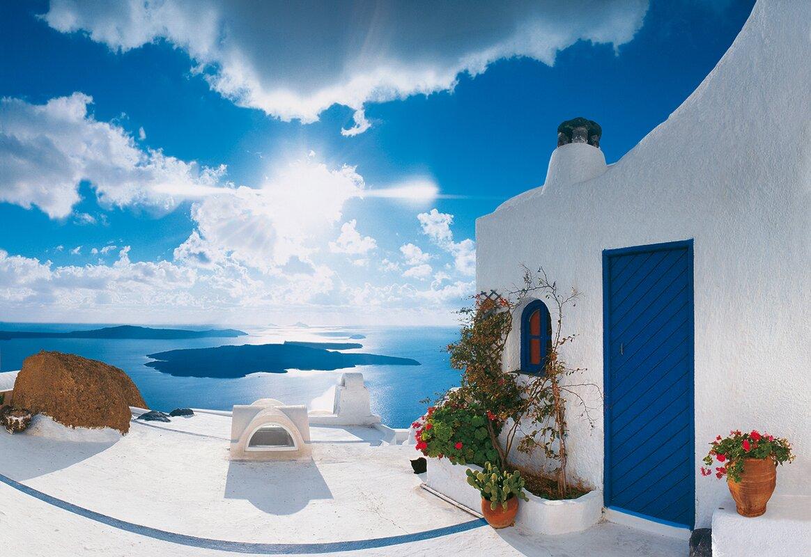 brewster home fashions ideal decor santorini sunset 144 x 100 default name