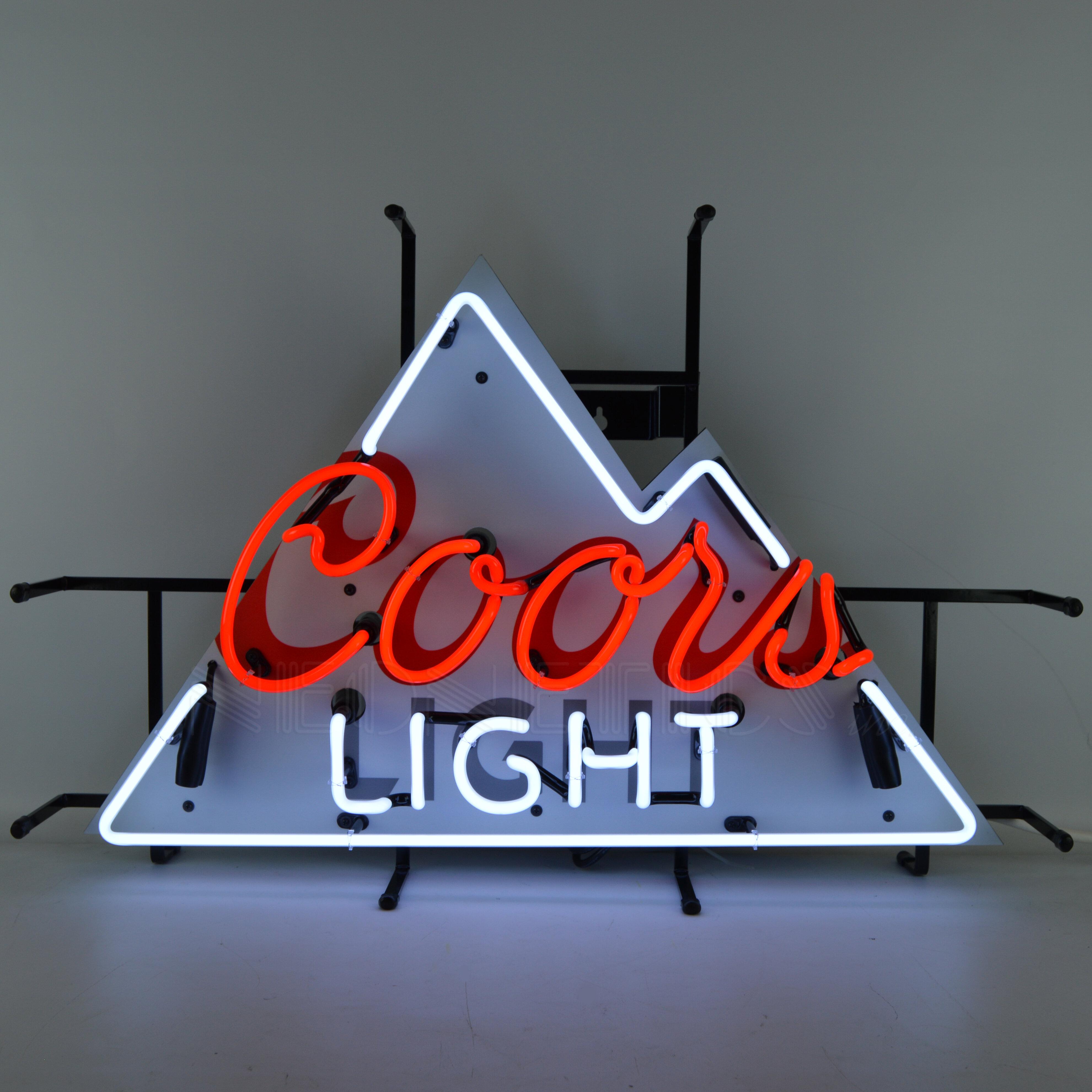 Neonetics coors light beer neon sign wayfair aloadofball Choice Image