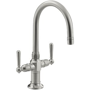 Kohler Hirisesingle-Hole Bar Sink Faucet with Lever Handles