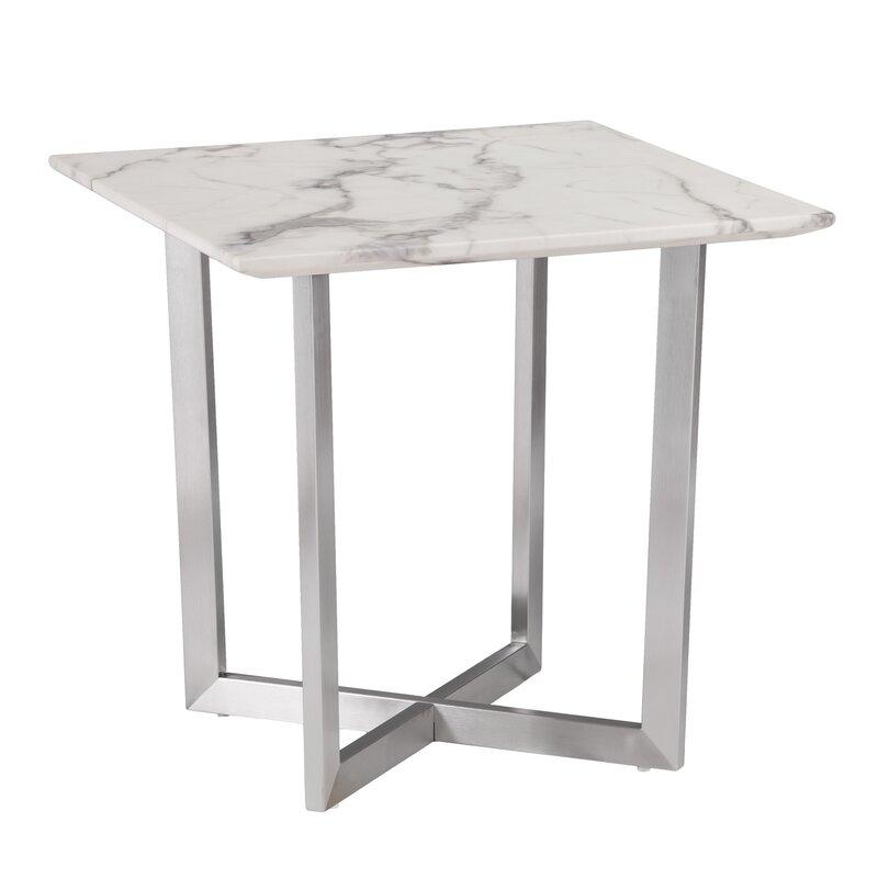 rosenbalm faux marble end table reviews allmodern. Black Bedroom Furniture Sets. Home Design Ideas