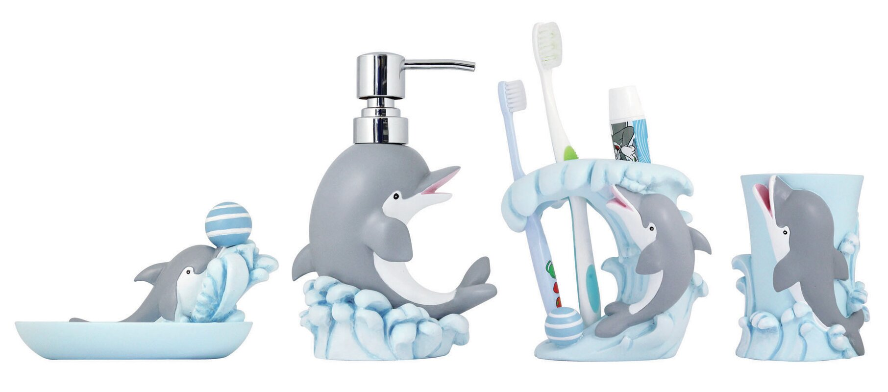Modona Piece Kids Bathroom Accessories Set Reviews Wayfair