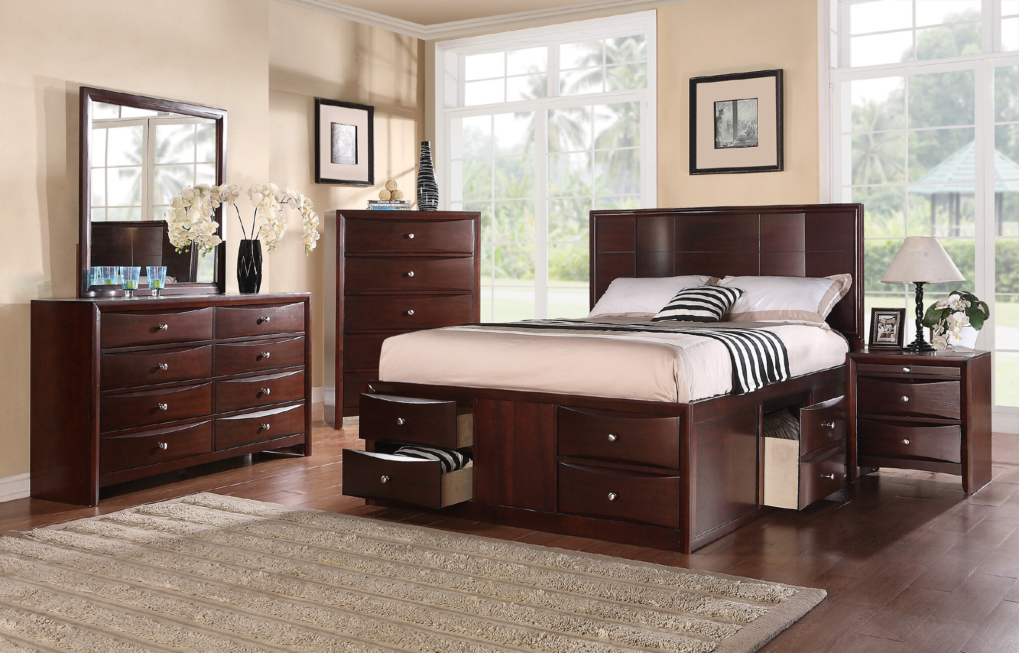 Ebern Designs Battle Platform Configurable Bedroom Set & Reviews -