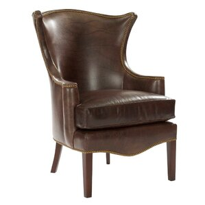 Lennon Wing Arm Chair by Leathercraft