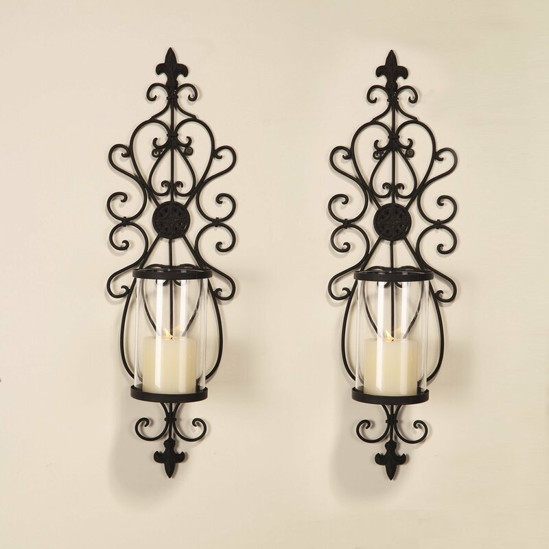 Perfect Iron Wall Sconce Candle Holder