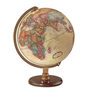 Globe accents youll love wayfair 12 antique french or english world globe gumiabroncs Image collections