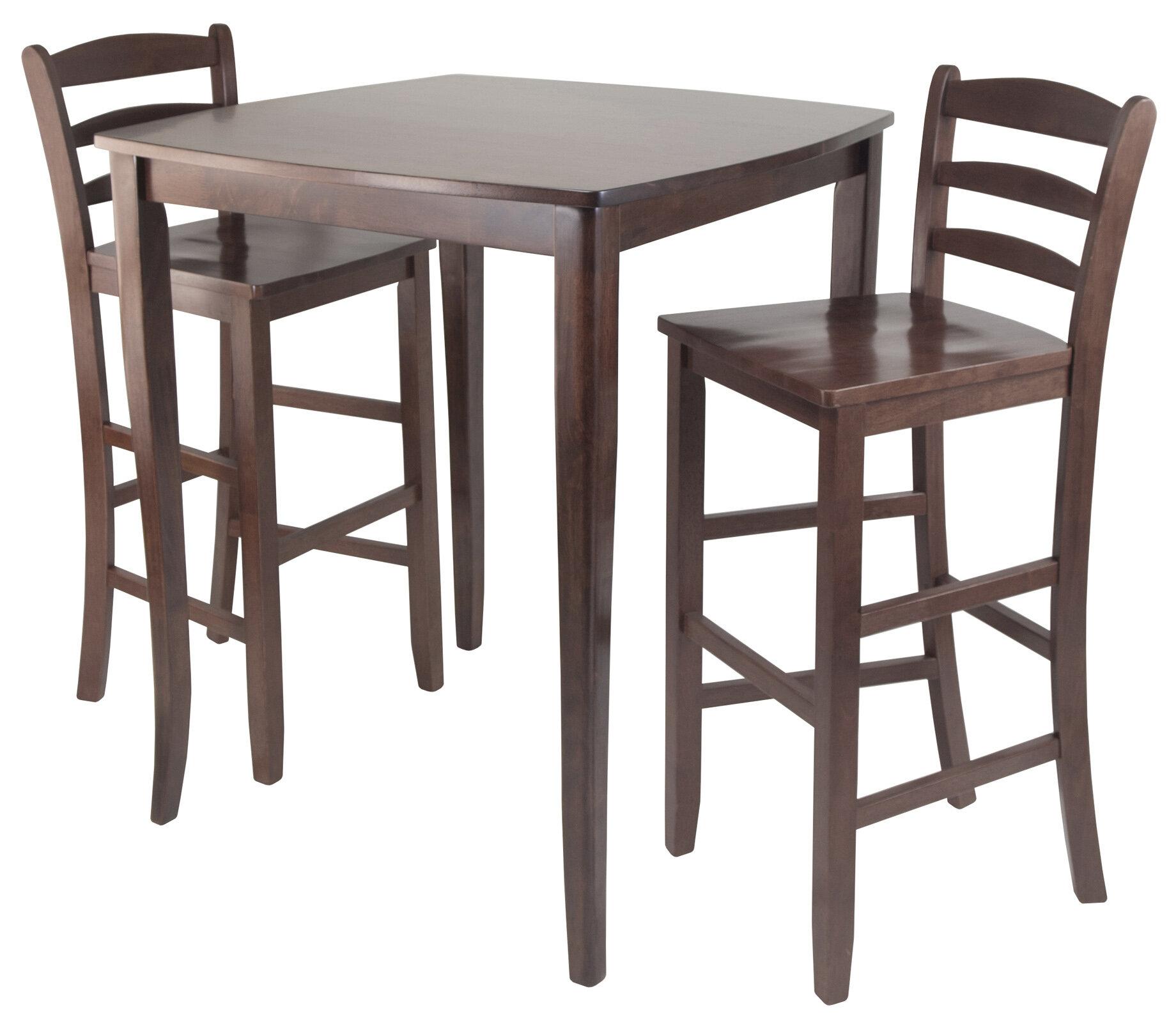 Red Barrel Studio Merkley 3 Piece Counter Height Pub Table Set Reviews Wayfair