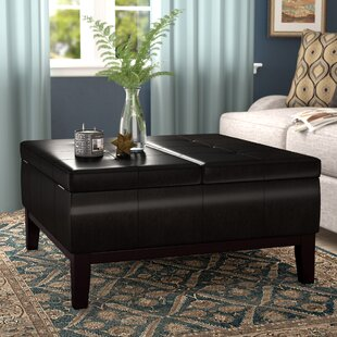 Dover Square Coffee Table Ottoman And Split Lift Lid
