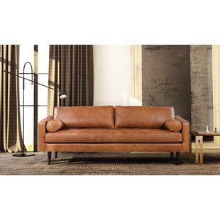 Astonishing Distressed Brown Leather Sofa Wayfair Ca Short Links Chair Design For Home Short Linksinfo
