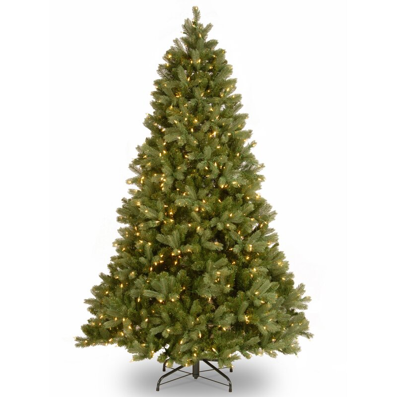 downswept douglas 65 green fir artificial christmas tree with 650 clear lights and stand - Artificial Christmas Tree Stand