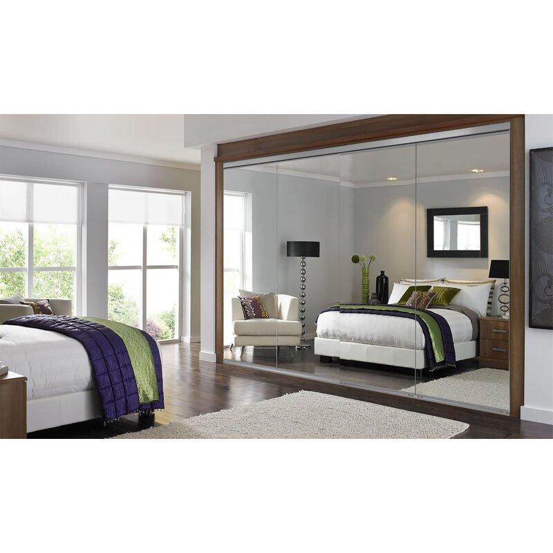 Custom Door And Mirror Manufactured Wood Mirrored Sliding Closet