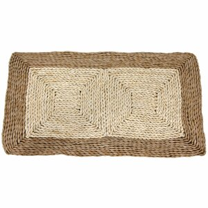 Rush Grass and Maize Two Tone Dark Ivory Area Rug