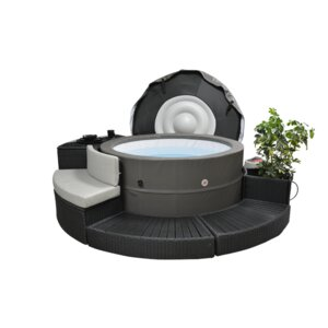 Swift Current V2 5-Person 125-Jet Plug and Play Spa with Surround Furniture Package