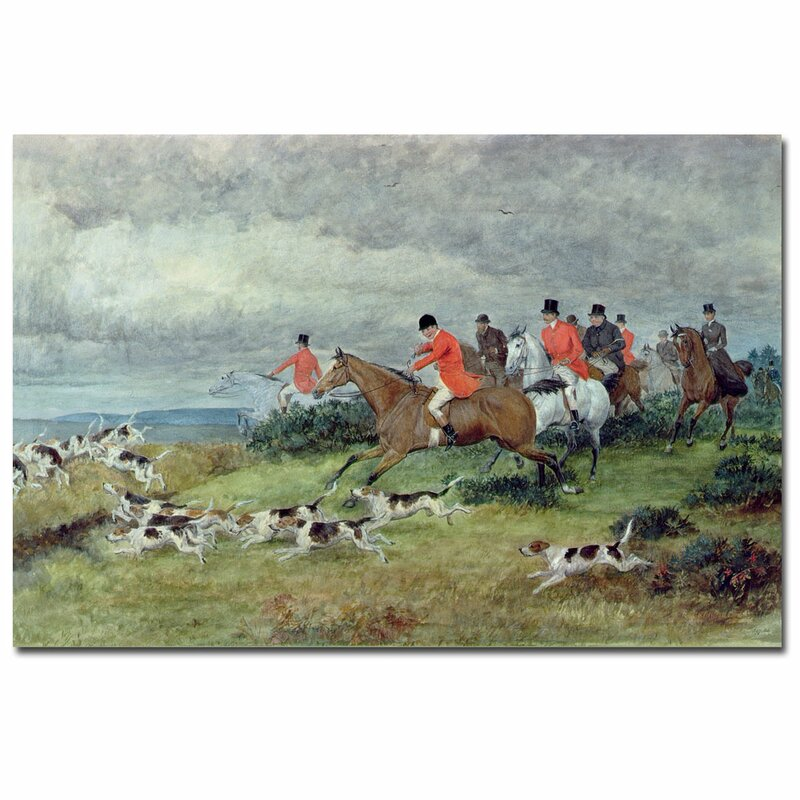 Fox Hunting In Surrey By Randolph Caldecott Painting Print On Canvas
