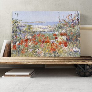 'Celia Thaxter's Garden' by Childe Hassam Painting Print on Canvas